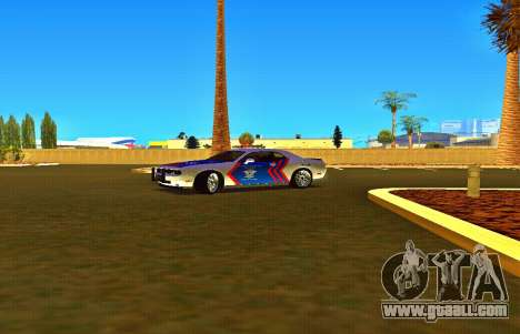 Dodge Challenger Indonesian Police for GTA San Andreas right view