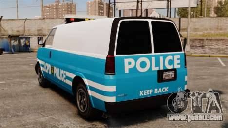 LCPD Police Van for GTA 4 back left view