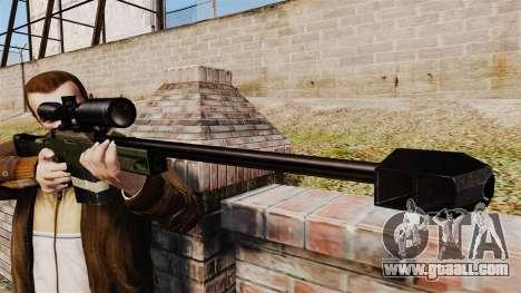 Accuracy International AW50F for GTA 4 third screenshot
