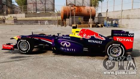 Car, Red Bull RB9 v4 for GTA 4 left view