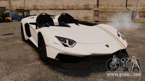 Lamborghini Aventador J 2012 Tricolore for GTA 4