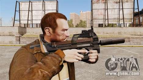 Belgian FN P90 submachine gun v1 for GTA 4