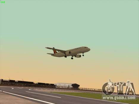 Airbus A320-211 Philippines Airlines for GTA San Andreas back view