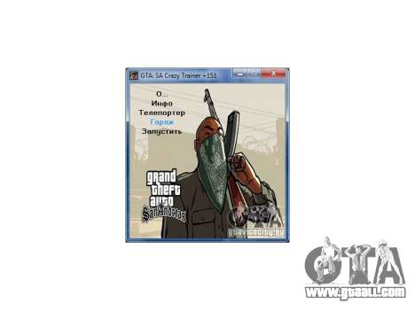 GTA San Andreas Crazy Trainer 151 v2.0 for GTA San Andreas