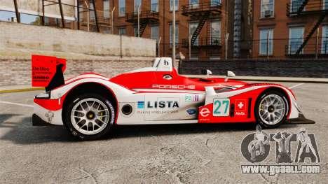 Porsche RS Spyder Evo for GTA 4 left view