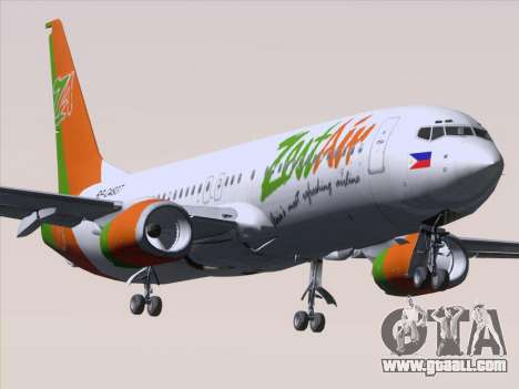 Boeing 737-800 Zest Air for GTA San Andreas bottom view