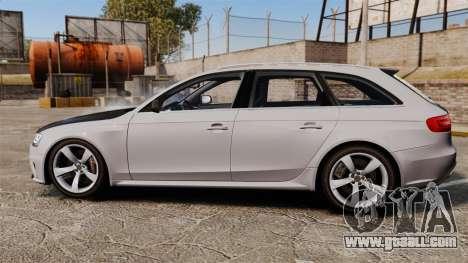 Audi RS4 Avant 2013 Sport v2.0 for GTA 4 left view