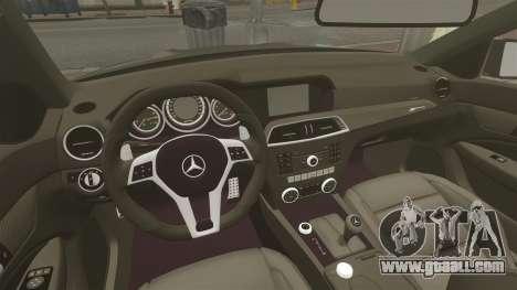 Mercedes-Benz C63 AMG BSAP (C204) 2012 for GTA 4 inner view