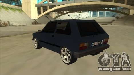 Zastava Yugo 1.1 for GTA San Andreas back view