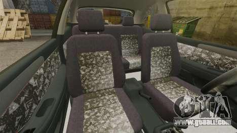 Daewoo Lanos FL 2001 for GTA 4 inner view