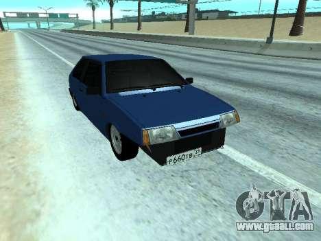 VAZ 2108 a dozen Blue for GTA San Andreas