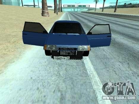 VAZ 2108 a dozen Blue for GTA San Andreas back left view