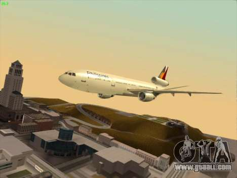 McDonell Douglas DC-10 Philippines Airlines for GTA San Andreas side view