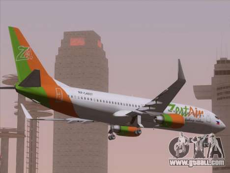 Boeing 737-800 Zest Air for GTA San Andreas side view
