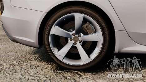 Audi RS4 Avant 2013 Sport v2.0 for GTA 4 back view