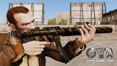 MP5SD submachine gun v7 for GTA 4