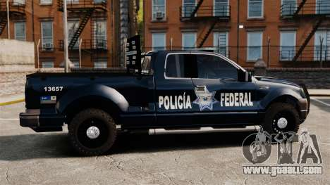 Ford F-150 De La Policia Federal [ELS & EPM] v3 for GTA 4 left view