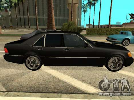 Mercedes-Benz w140 s600 for GTA San Andreas left view