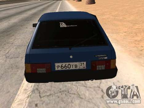 VAZ 2108 a dozen Blue for GTA San Andreas left view