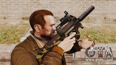 Belgian FN P90 submachine gun v6 for GTA 4