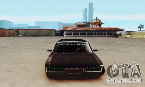 VAZ 2106 Zielonka for GTA San Andreas back view