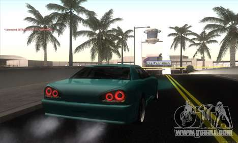 Elegy Edit for GTA San Andreas back left view