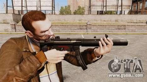 MP5SD submachine gun v5 for GTA 4