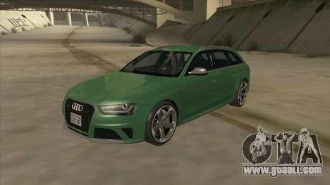 Audi RS4 Avant B8 2013 V2.0 for GTA San Andreas