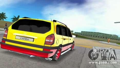 Opel Zafira for GTA Vice City back left view