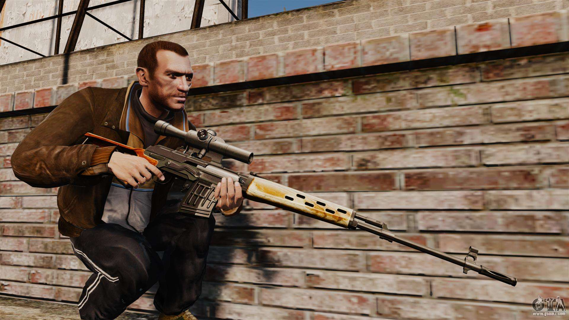 Dragunov Sniper Rifle V4 For GTA 4