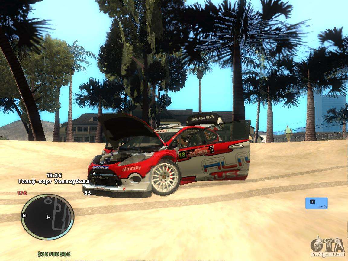 ford fiesta rs wrc for gta san andreas. Black Bedroom Furniture Sets. Home Design Ideas