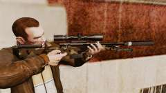 AW L115A1 sniper rifle with a silencer v10