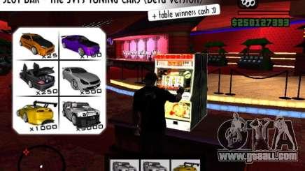 Slot BAR The JVTs tuning cars for GTA San Andreas