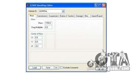 Handling Editor 1.2 for GTA 4
