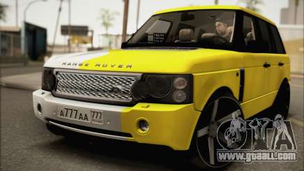 Land Rover Range Rover Gold Vossen for GTA San Andreas