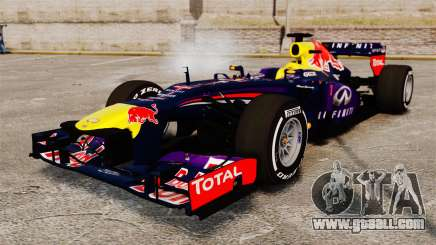 Car, Red Bull RB9 v4 for GTA 4