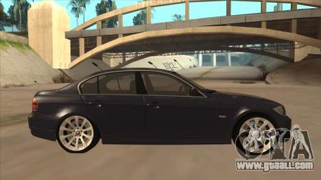 BMW 330 e90 for GTA San Andreas back left view