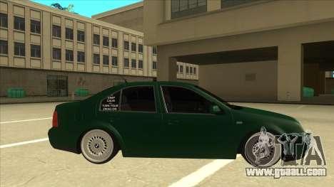VW Bora for GTA San Andreas back left view
