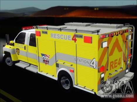 GMC C4500 Topkick BCFD Rescue 4 for GTA San Andreas engine