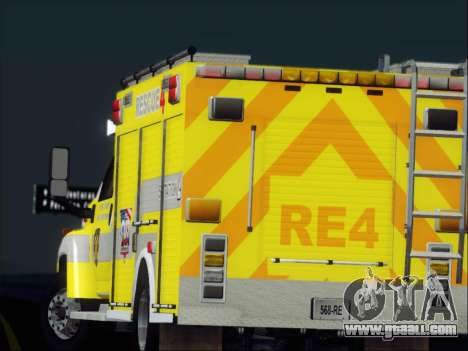 GMC C4500 Topkick BCFD Rescue 4 for GTA San Andreas wheels