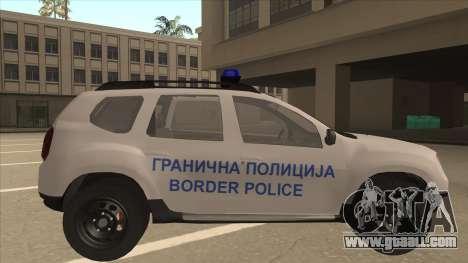 Dacia Duster Granična Policija Was for GTA San Andreas back left view