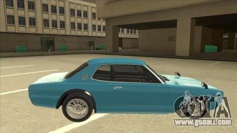 Nissan Skyline 2000 GT-R RB26DETT Black Revel for GTA San Andreas back left view
