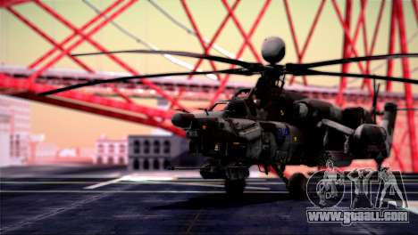Mi-28N Havoc for GTA San Andreas back left view