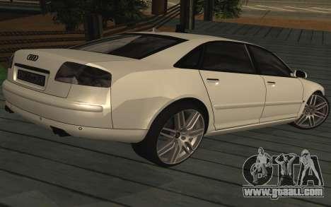 Audi A8L D3 for GTA San Andreas left view