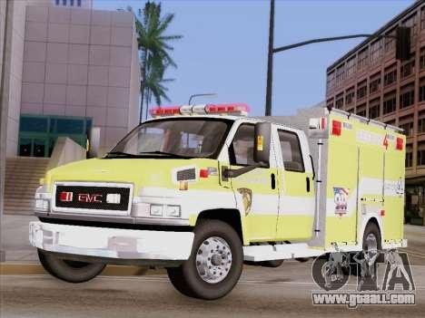 GMC C4500 Topkick BCFD Rescue 4 for GTA San Andreas side view