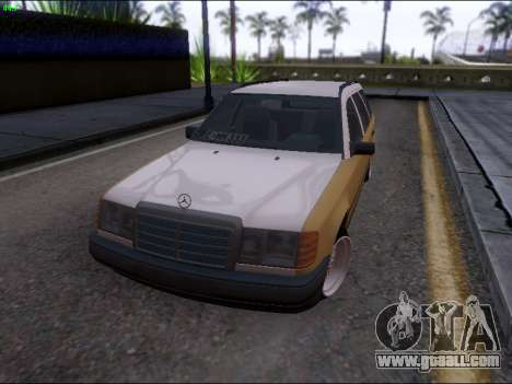 Mercedes-Benz E-Class W124 for GTA San Andreas back view