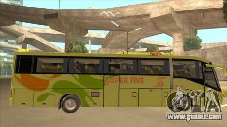 Higer KLQ6129QE - Super Five Transport S 023 for GTA San Andreas back left view
