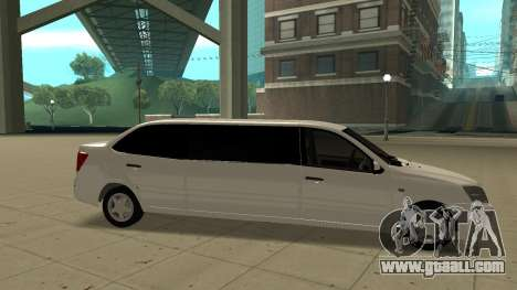 Lada Granta Limousine for GTA San Andreas left view