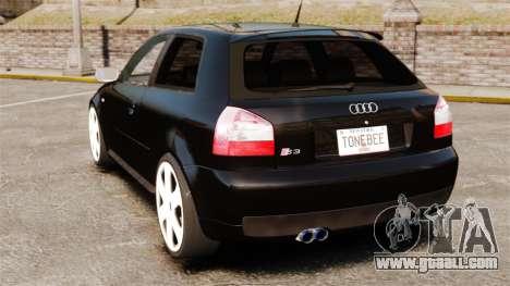 Audi S3 2001 for GTA 4 back left view