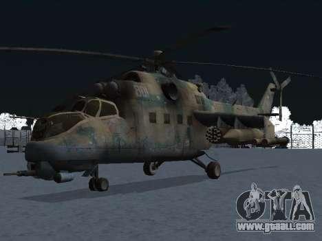 The MI-24 p for GTA San Andreas